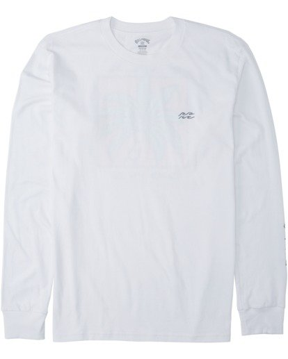3 King Palm Long Sleeve T-Shirt White M4053BKI Billabong