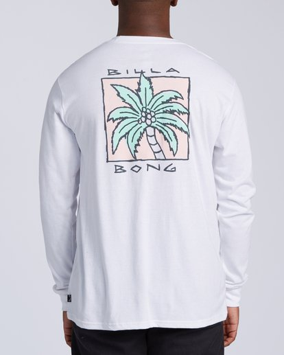 2 King Palm Long Sleeve T-Shirt White M4053BKI Billabong