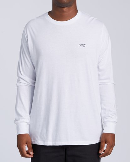 0 King Palm Long Sleeve T-Shirt White M4053BKI Billabong