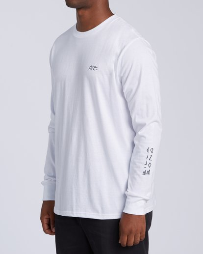 1 King Palm Long Sleeve T-Shirt White M4053BKI Billabong