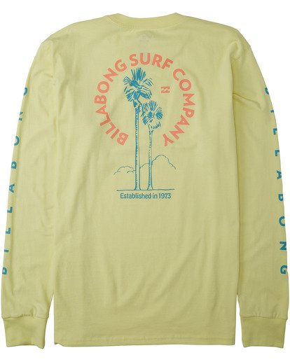 1 Los Angeles Long Sleeve T-Shirt Yellow M4053BLA Billabong