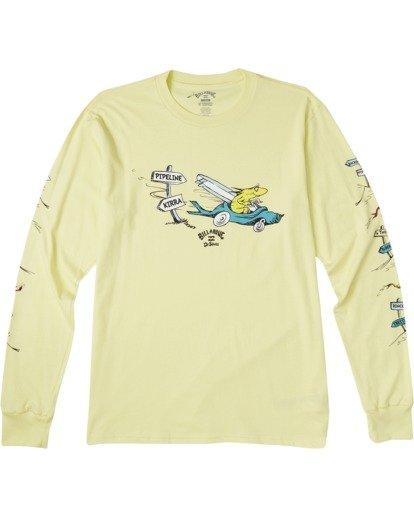 3 Little Car Long Sleeve T-Shirt Yellow M4053BLC Billabong