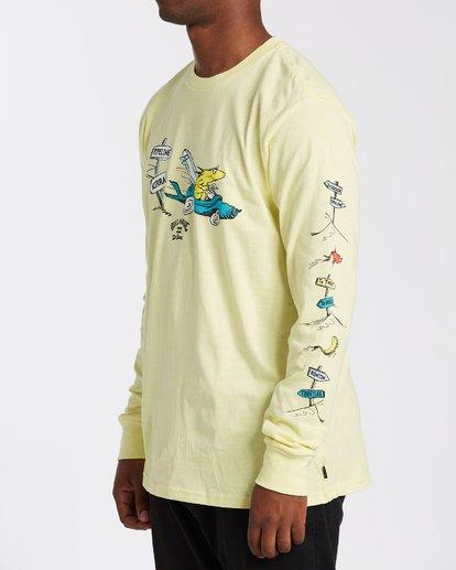 1 Little Car Long Sleeve T-Shirt Yellow M4053BLC Billabong