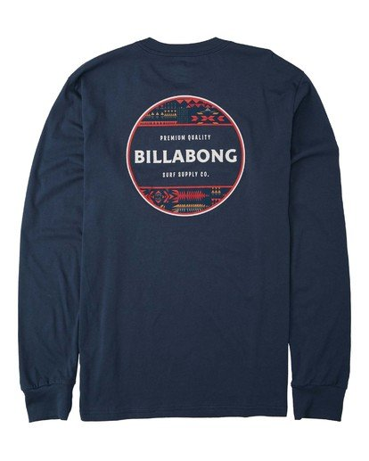 4 Rotor Long Sleeve T-Shirt Blue M4053BRO Billabong