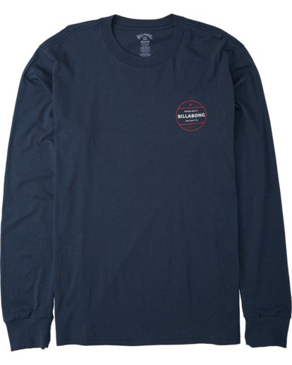 3 Rotor Long Sleeve T-Shirt Blue M4053BRO Billabong