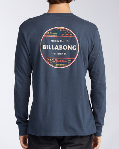 2 Rotor Long Sleeve T-Shirt Blue M4053BRO Billabong