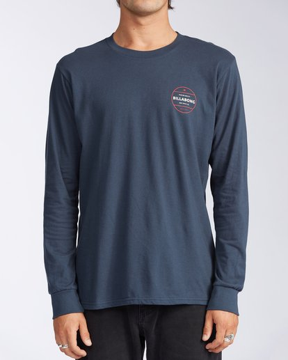 0 Rotor Long Sleeve T-Shirt Blue M4053BRO Billabong