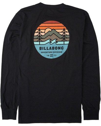 1 Twin Pines Long Sleeve T-Shirt Black M4053BTP Billabong
