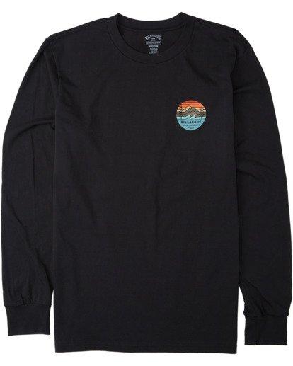 0 Twin Pines Long Sleeve T-Shirt Black M4053BTP Billabong