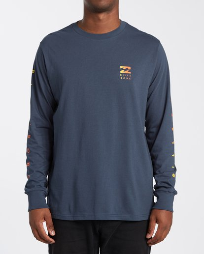 0 Unity Long Sleeve T-Shirt Blue M4053BUY Billabong