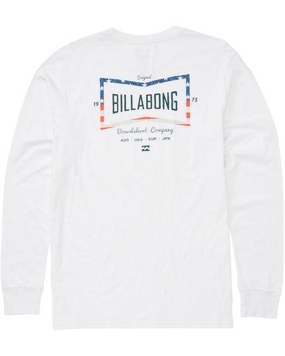 1 Craftsman Long Sleeve T-Shirt White M405PBCM Billabong