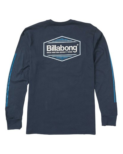 1 Pacific Long Sleeve Graphic Tee Shirt Blue M405SBPA Billabong