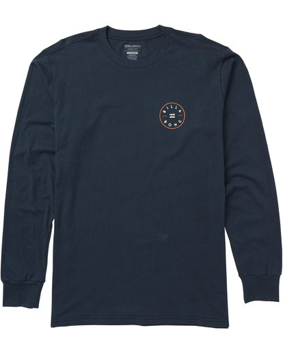 0 Rotor Long Sleeve Graphic T-Shirt Blue M405SBRO Billabong