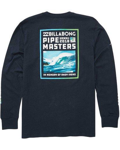 1 Pipe Poster Long Sleeve T-Shirt Blue M405TBPP Billabong