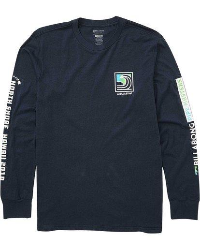 0 Pipe Poster Long Sleeve T-Shirt Blue M405TBPP Billabong