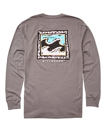 1 High Tide Long Sleeve Tee Grey M405UBHT Billabong