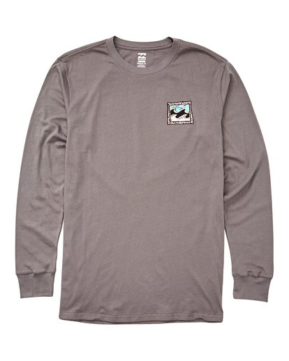 0 High Tide Long Sleeve Tee Grey M405UBHT Billabong
