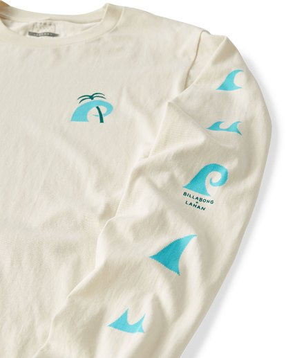 2 Wave Language Long Sleeve T-Shirt White M405UBWL Billabong