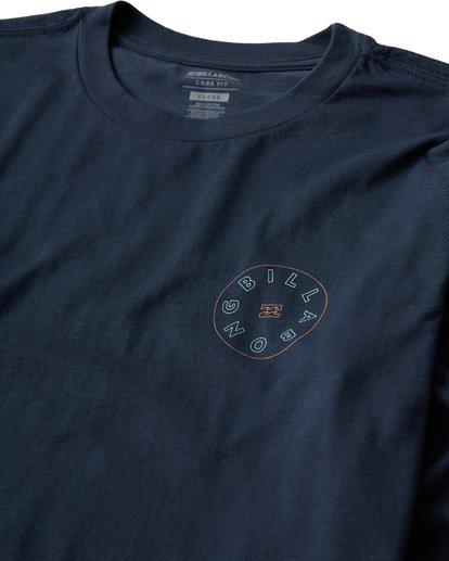 2 Roto Long Seeve T-Shirt Blue M405UROE Billabong