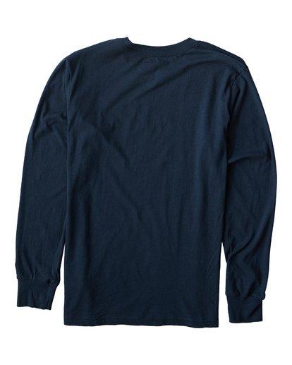 1 Script Long Seeve T-Shirt Blue M405USCE Billabong