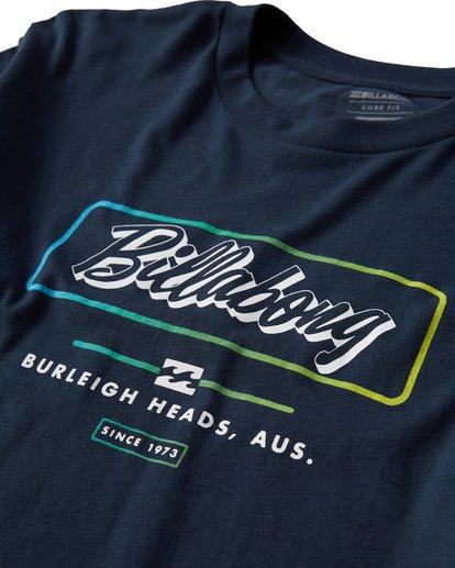 2 Script Long Seeve T-Shirt Blue M405USCE Billabong
