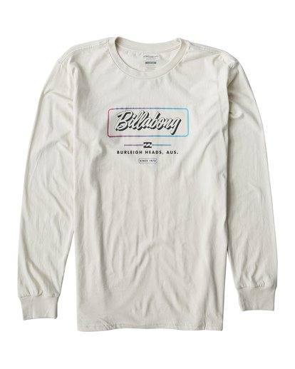 0 Script Long Seeve T-Shirt White M405USCE Billabong