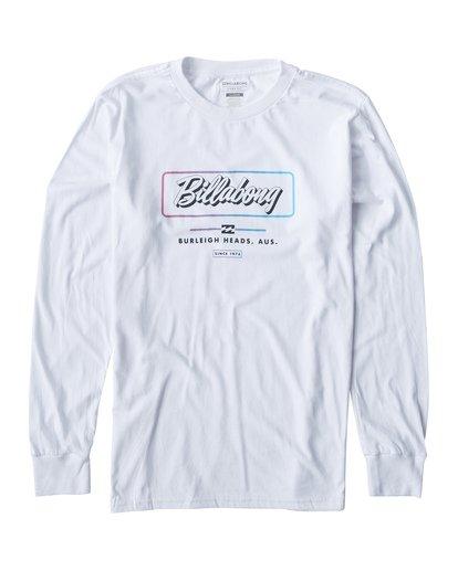 0 Script Long Seeve T-Shirt White M405USCE Billabong