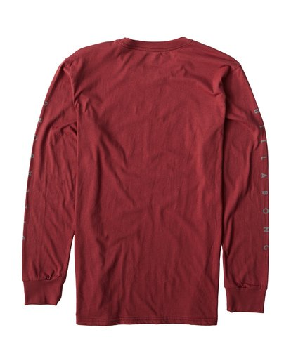 1 Swelled Long Seeve T-Shirt Red M405USWE Billabong
