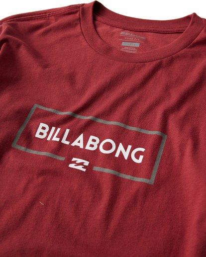2 Swelled Long Seeve T-Shirt Red M405USWE Billabong