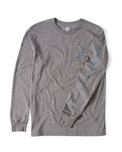 2 Unity Sleeves Long Sleeve T-Shirt Grey M405UUNR Billabong