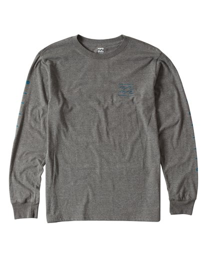 0 Unity Sleeves Long Sleeve T-Shirt Grey M405UUNR Billabong
