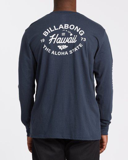2 Aloha Hawaii Long Sleeve T-Shirt Blue M405VBAL Billabong