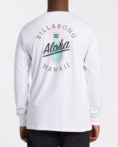 2 Aloha Hawaii Long Sleeve T-Shirt White M405VBAL Billabong