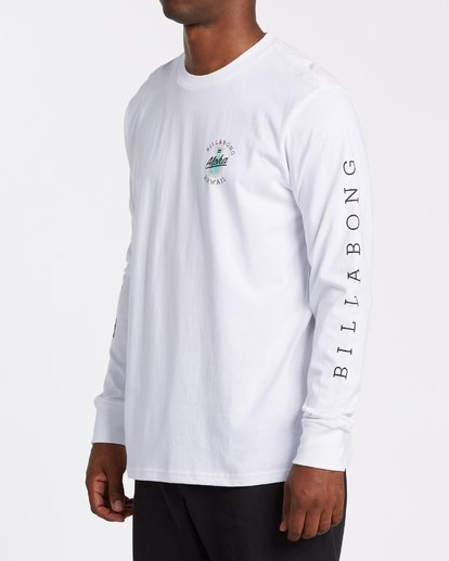 1 Aloha Hawaii Long Sleeve T-Shirt White M405VBAL Billabong