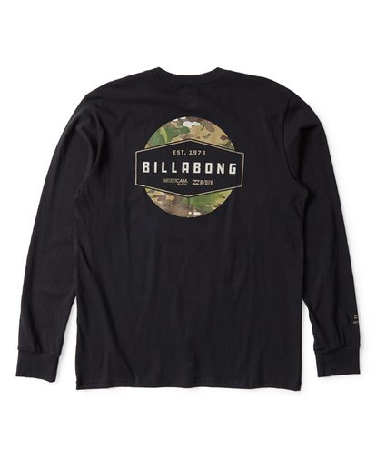 1 Multicam Label Long Sleeve T-Shirt Black M405VBML Billabong