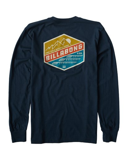 1 Ridge Long Sleeve T-Shirt Blue M405VBRI Billabong