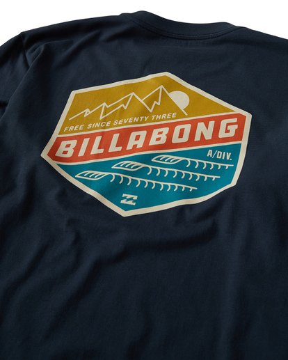 3 Ridge Long Sleeve T-Shirt Blue M405VBRI Billabong
