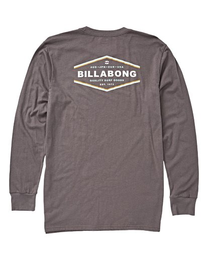 1 Vista Long Sleeve T-Shirt Grey M405VBVI Billabong