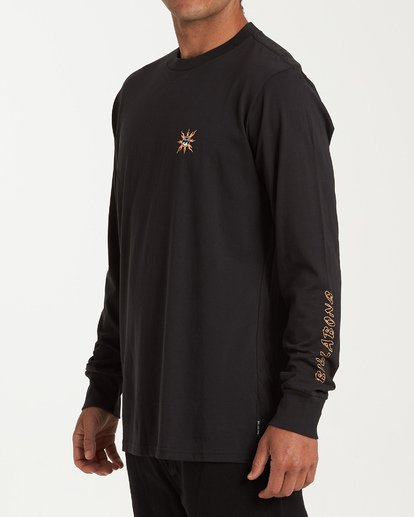 1 Double Dragon Long Sleeve T-Shirt Black M405WBDO Billabong