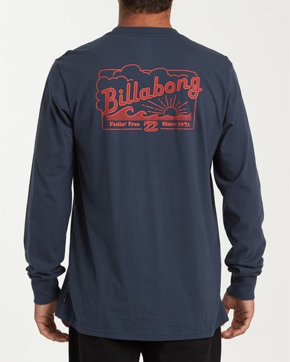 2 Free Long Sleeve T-Shirt Blue M405WBFE Billabong