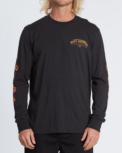 0 Pipe Masters Tube Long Sleeve T-Shirt Black M405WBPT Billabong