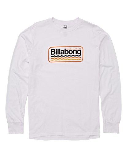 3 Ripple Long Sleeve T-Shirt White M405WBRI Billabong