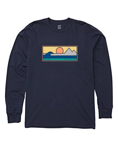 3 Scenic Long Sleeve T-Shirt Blue M405WBSE Billabong