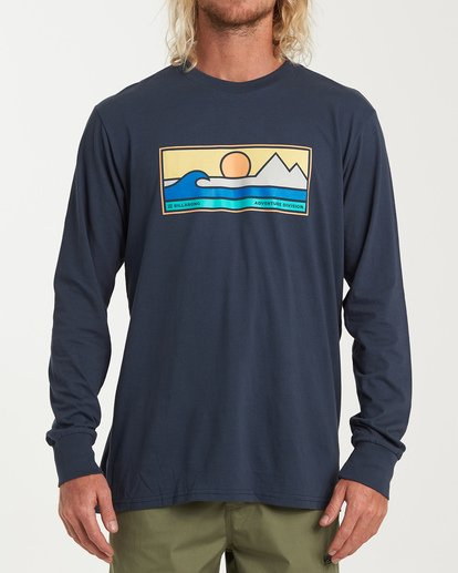 0 Scenic Long Sleeve T-Shirt Blue M405WBSE Billabong