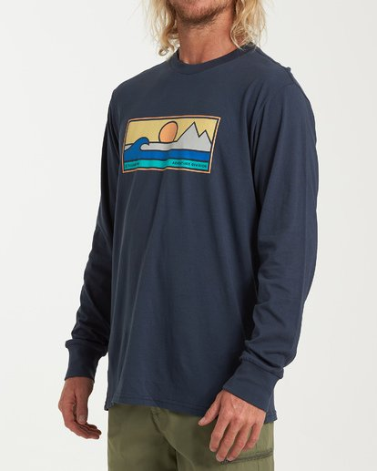 1 Scenic Long Sleeve T-Shirt Blue M405WBSE Billabong