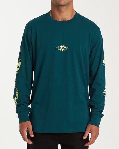 0 Vortex Long Sleeve T-Shirt Green M405WBVO Billabong