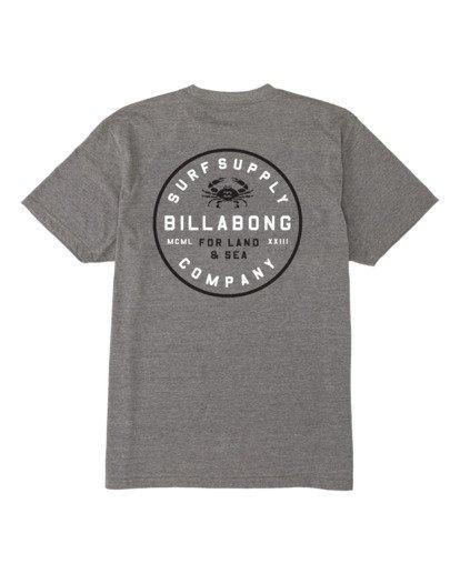 4 Claws Short Sleeve T-Shirt Grey M4141BCL Billabong