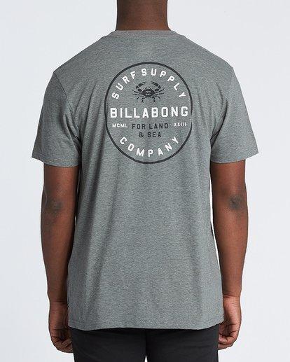 2 Claws Short Sleeve T-Shirt Grey M4141BCL Billabong