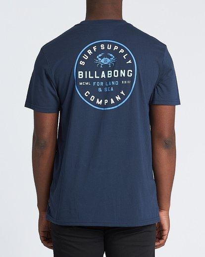 2 Claws Short Sleeve T-Shirt Blue M4141BCL Billabong