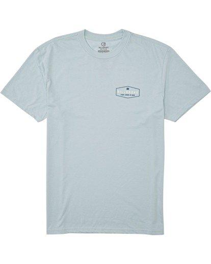 3 Diamond Adiv Short Sleeve T-Shirt Blue M4142BDI Billabong